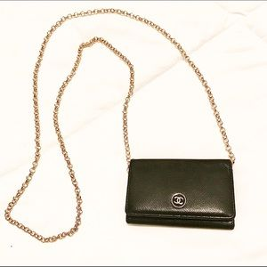 Authentic Chanel Leather Key/Card Case
